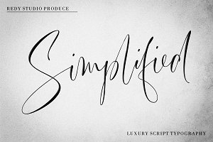 Simplified | Luxury Script