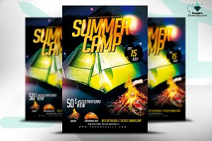 Summer Camp PSD Flyer