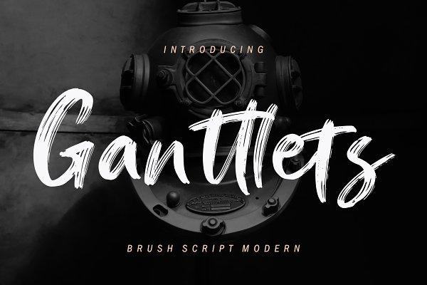 Best Ganttlets Brush Script Vector
