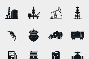 Petroleum and oil icons and price