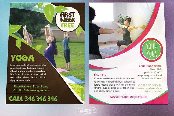 Yoga Flyers Bundle Flyer Templates Creative Market