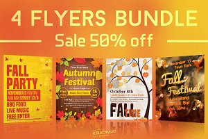 Autumn Flyers Bundle