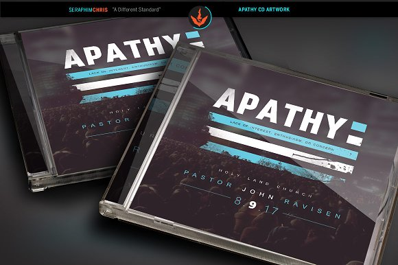 apathy cd artwork template templates creative market