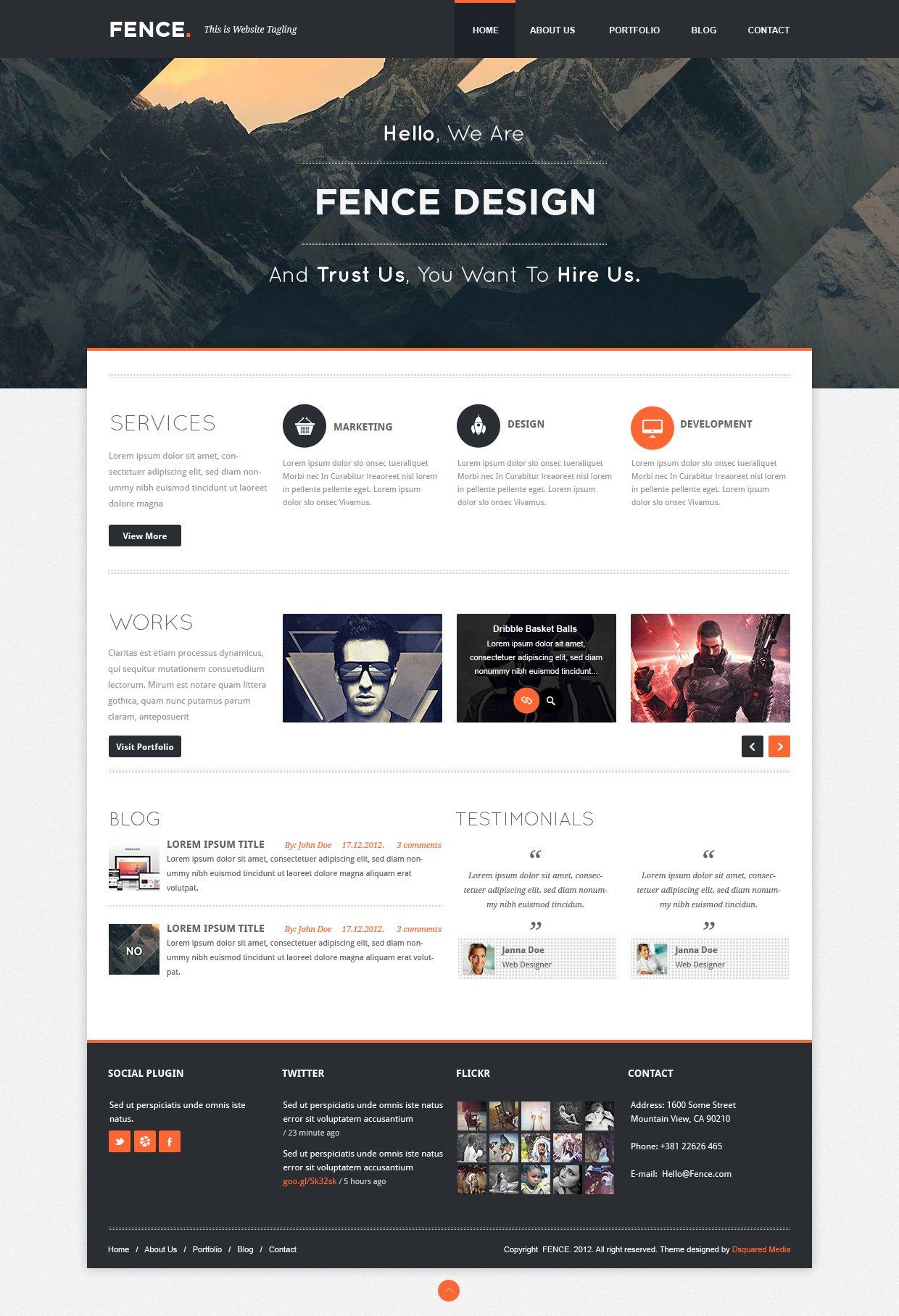 Fence - Custom WordPress ~ Web Themes ~ Creative Market