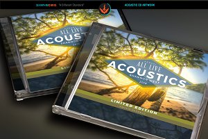Acoustic CD Artwork Template