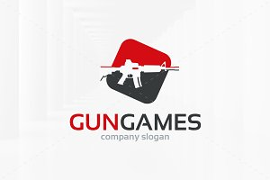 Gun Games Logo Template