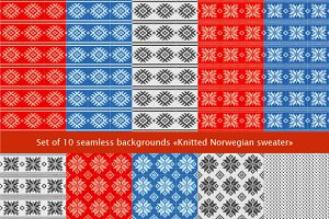 Set of 10 seamless backgrounds