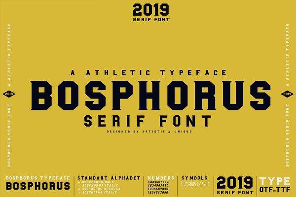 BOSPHORUS Serif font