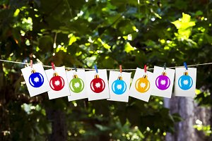 christmas balls photographs in tree