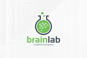 Brain Lab Logo Template