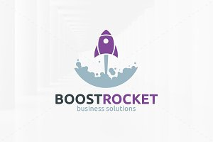 Boost Rocket Logo Template