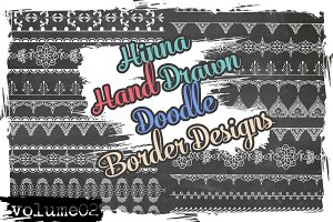 Doodle Vector Brushes borders