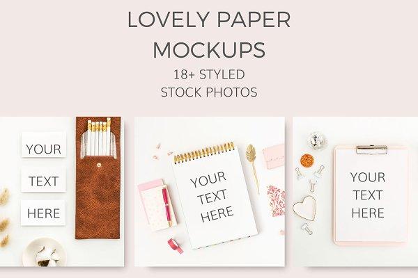 Lovely Paper Mockups (18+ Images)
