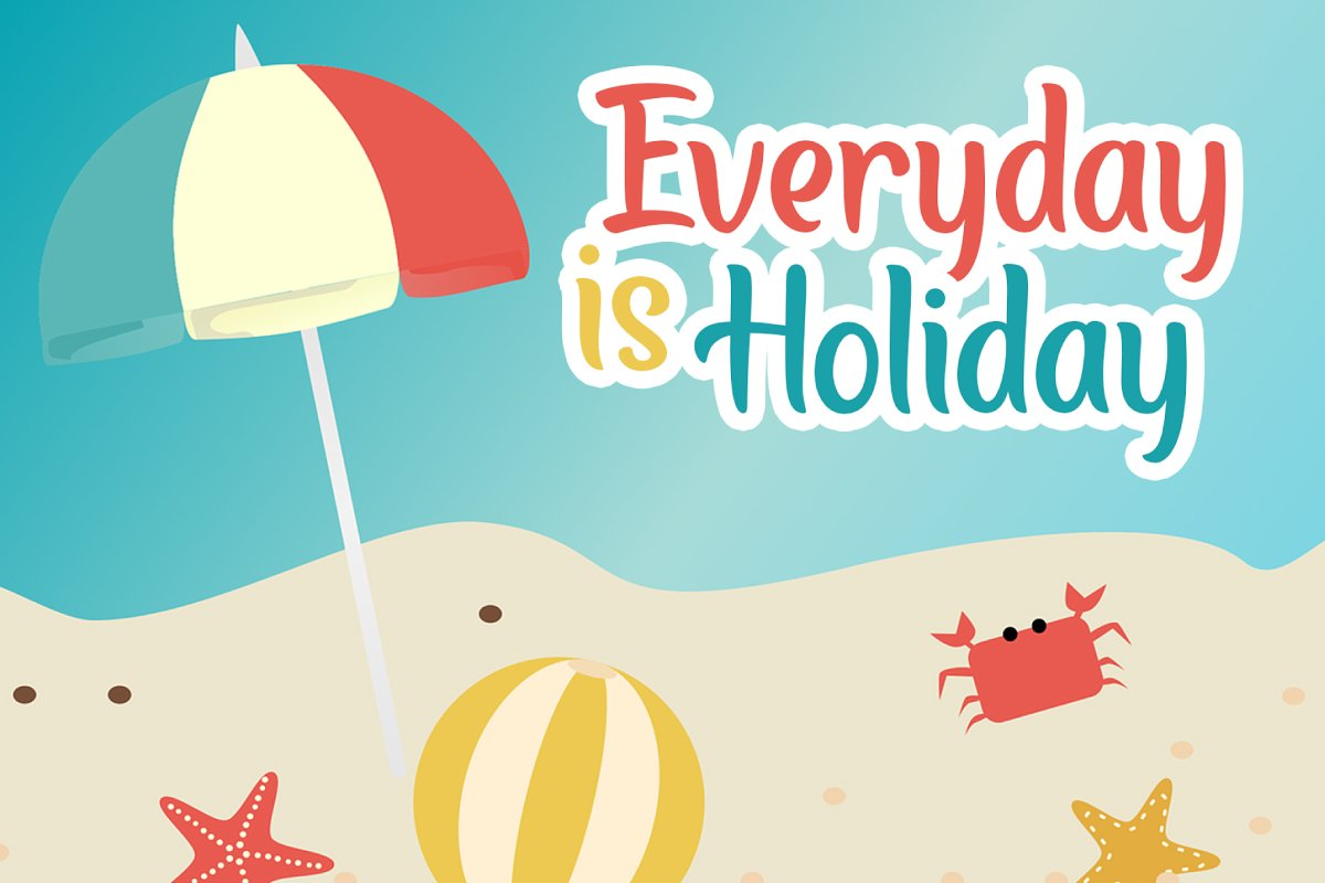 Baliday Summer Font in Display Fonts - product preview 2