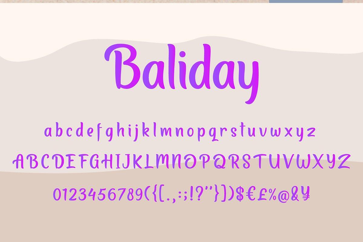 Baliday Summer Font
