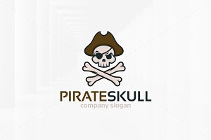 Pirate Skull Logo Template