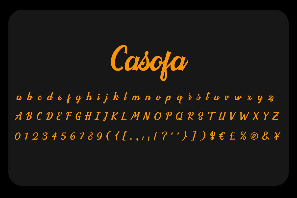 Casofa Colorful Font