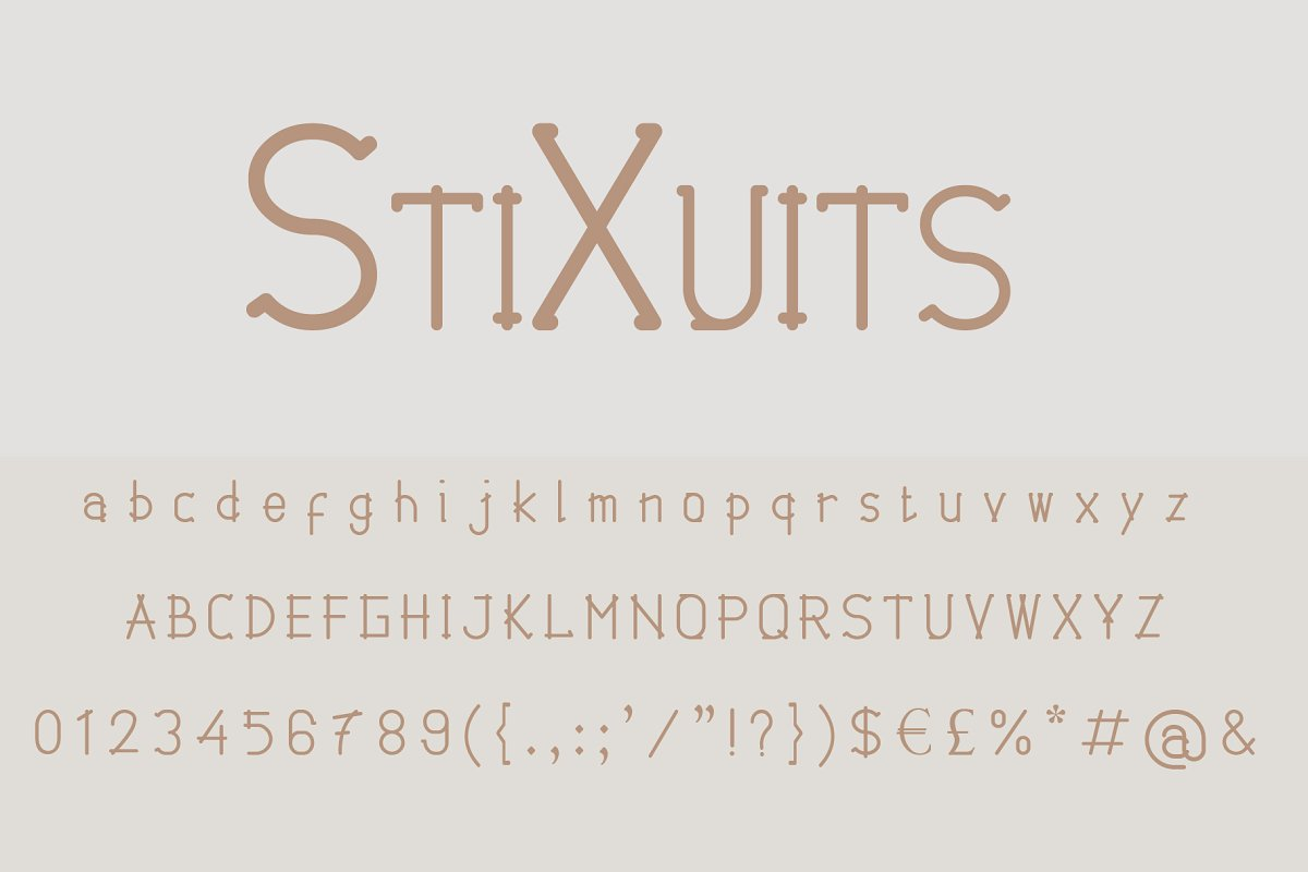 StiXuits Modern Font