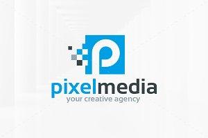 Pixel Media - Letter P Logo