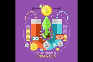 Accumulation of Finances Concept