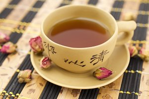 Chinese traditional clay cup of tea