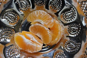 Orange fruit segments