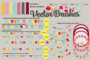 Buntings Banners Vector Brushes SALE
