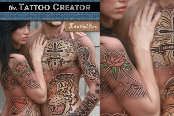 Free Tattoo Creator Photoshop Mockup