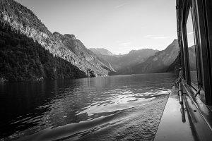 Boat trip at Koenigssee BW
