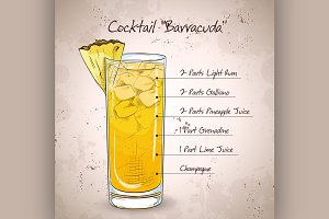 Hard drink Cocktail Barracuda