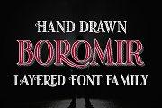 Boromir - 11 layered fonts
