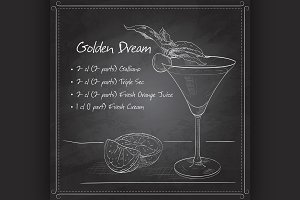 Alcoholic Cocktail Golden dream