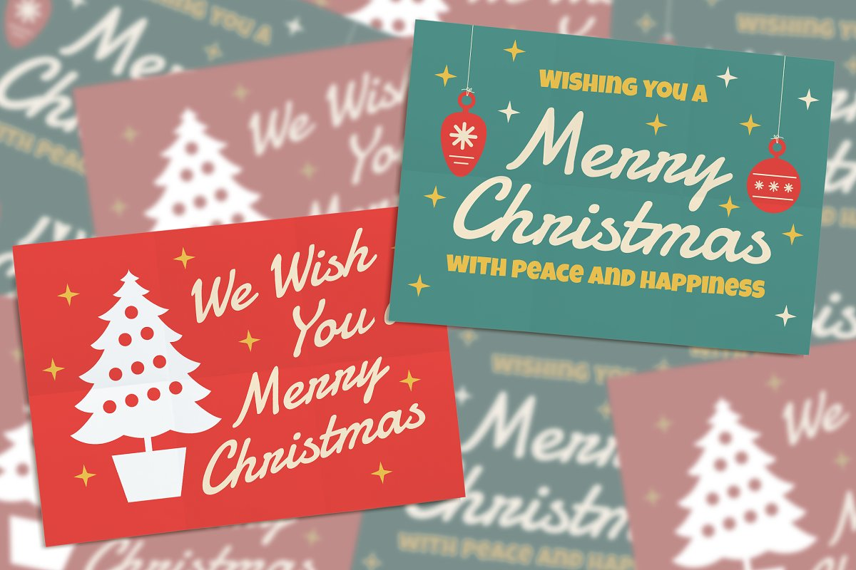 2 Vintage Christmas Card in Invitation Templates - product preview 8