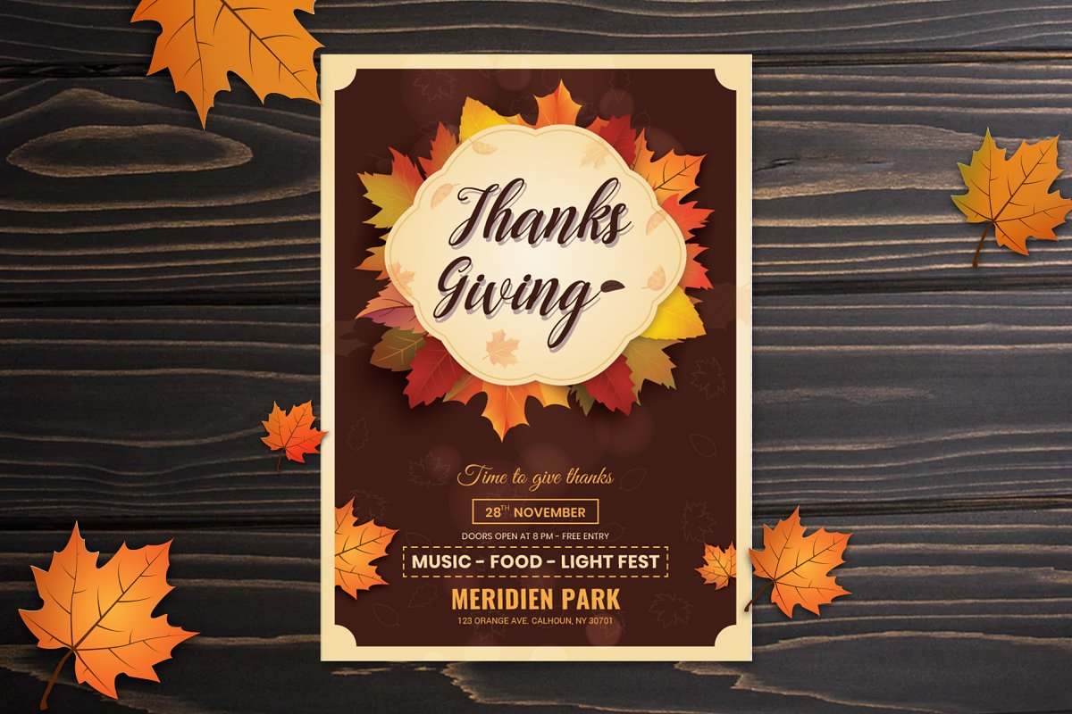 Thanks Giving Flyer Template