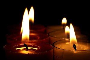burning candles background