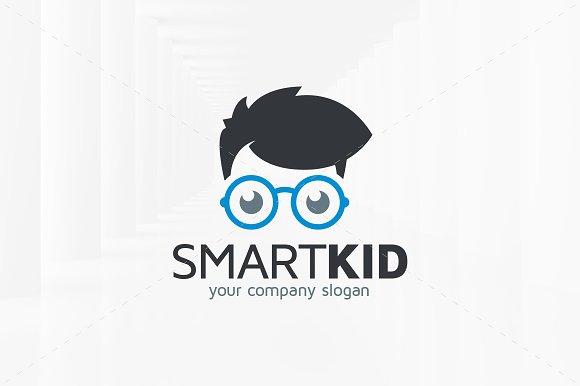 smart kid logo template logo templates creative market
