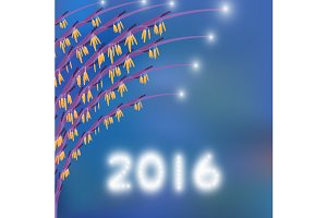 2016 Happy new year greeting card