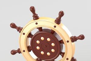 Decorative nautical helm
