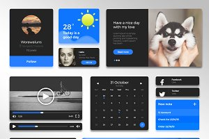 Simple Blue UI Kit (.sketch)