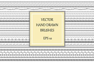 Decorative brushes, borders