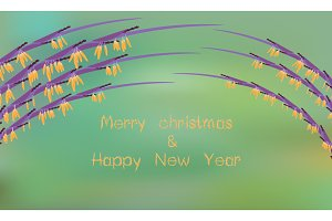 Merry Xmas and happy new year card