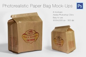 Photorealistic Paper Bag Mock-Ups
