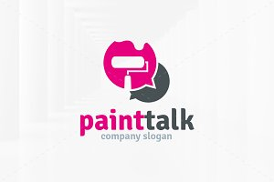 Paint Talk Logo Template