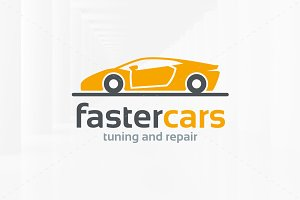 Faster Cars Logo Template