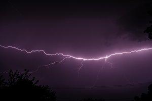 Thunderstorm lightning bolt