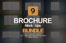 Brochure Mock- Up Bundle 9 in 1