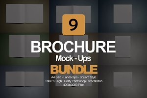 Brochure Mock- Up Bundle 9 in 1