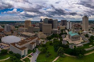 Aerial panorama of Nashville