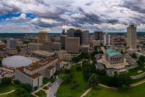 Aerial panorama of Nashville