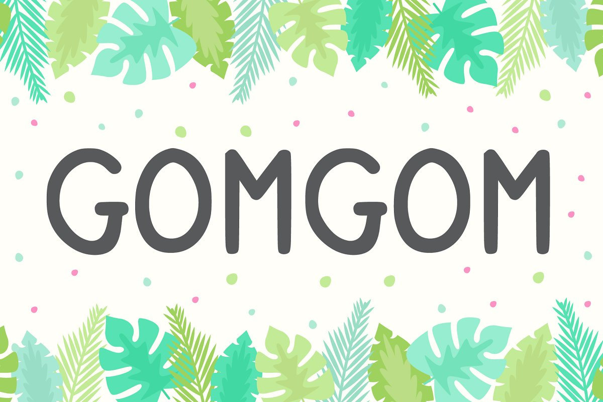 Gomgom | Handwriting Font in Display Fonts - product preview 8